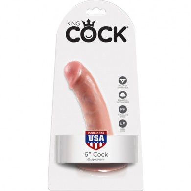 "King Cock Pene Realista 6"" (15,2 cms)"