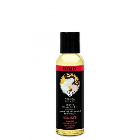 Tester Aceite De Masaje Fresa-Cava/Romance SHUNGA 60 ml.